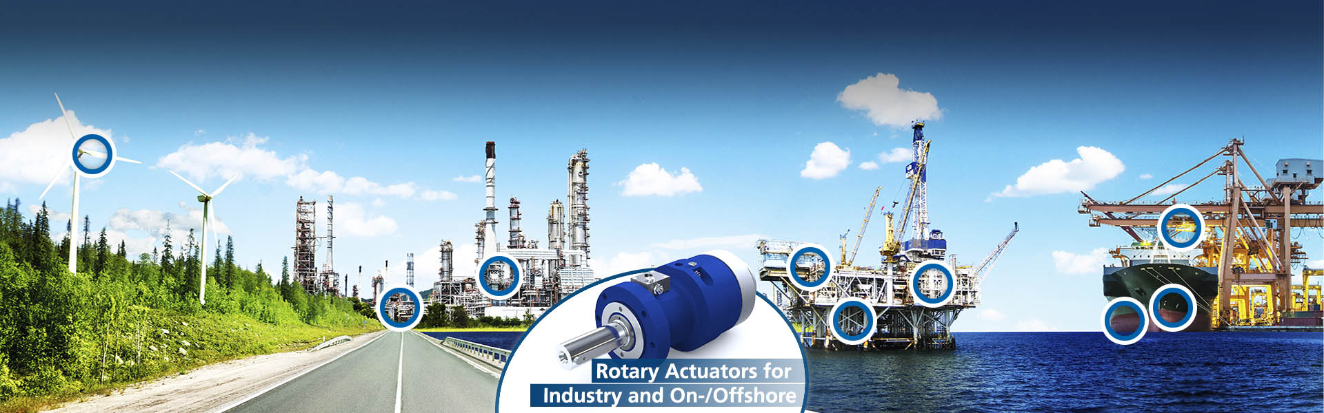 Rotary Actuators for Industry and On+Offshore